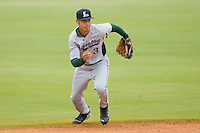 Shortstop Jiovanni Mier #3 of the Lexington Legends on defense against the Kannapolis Intimidators at Fieldcrest Cannon Stadium April 14, 2010, in Kannapolis, North Carolina.  Photo by Brian Westerholt / Four Seam Images