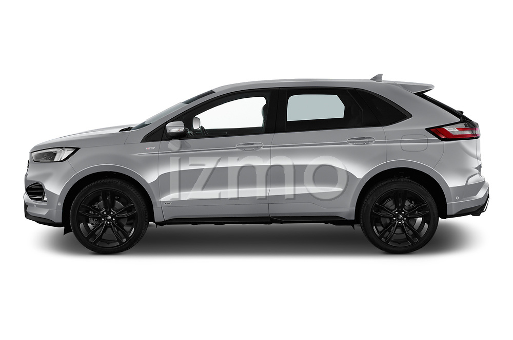 Car driver side profile view of a 2019 Ford Edge ST Line 5 Door SUV