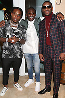 MIAMI, FL - FEBRUARY 19:Jaquees, LiL Jamez & FloydMayweather attend his 44th futuristic Birthday Party at Casablanca on the Bay on February 19, 2021 in Miami, Florida. Photo Credit: Walik Goshorn/Mediapunch