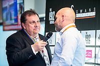 Kev Johns talks to Andy Robinson <br /> Re: Behind the Scenes Photographs at the Liberty Stadium ahead of and during the Premier League match between Swansea City and Bournemouth at the Liberty Stadium, Swansea, Wales, UK. Saturday 25 November 2017