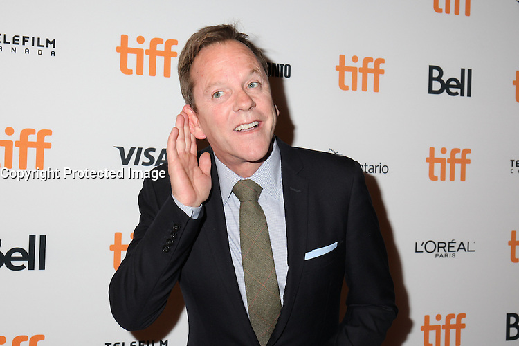 KIEFER SUTHERLAND - RED CARPET OF THE FILM 'THE TERRY KATH EXPERIENCE' - 41ST TORONTO INTERNATIONAL FILM FESTIVAL 2016 . 15/09/2016. # FESTIVAL INTERNATIONAL DU FILM DE TORONTO 2016