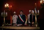 MASSIMO D'ALEMA IN CAMPIDOGLIO CELEBRA IL MATRIMONIO DI FABRIZIO RONDOLINO    ROMA 1997