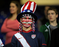 Supporter from USA  (USA), during the friendly match Italy against USA at the Stadium Luigi Ferraris at Genova Italy on february the 29th, 2012.