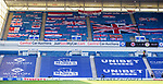 Rangers v St Mirren:  RSC Flags in the end stands of Ibrox for closed doors games