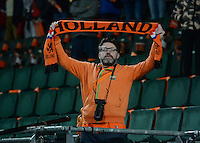 20160302 – DEN HAAG ,  NEDERLAND : Dutch HOLLAND Fan pictured during the Olympic Qualification Tournament  soccer game between the women teams of Switzerland and The Netherlands, The first game for both teams in the Olympic Qualification Tournament for the Olympic games in Rio de Janeiro - Brasil, Wednesday 2 March 2016 at Kyocera Stadium in The Hague , Netherlands  PHOTO DAVID CATRY
