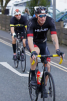 Pictured: Gareth Thomas during the cycle race. Sunday 15 September 2019<br /> Re: Ironman triathlon event in Tenby, Wales, UK.
