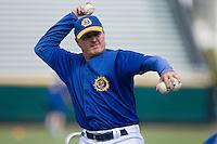 Jacksonville Suns manager John Shoemaker (12) throws batting practice at the Baseball Grounds in Jacksonville, FL, Thursday June 12, 2008.