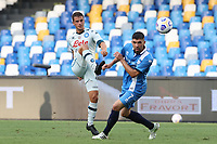 Diego Demme of SSC Napoli compete for the ball<br /> during the friendly football match between SSC Napoli and Pescara Calcio 1936 at stadio San Paolo in Napoli, Italy, September 11, 2020. <br /> Photo Cesare Purini / Insidefoto