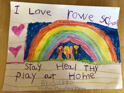 Stay at home- Sierra Mason Grade 1, Yarmouth Maine