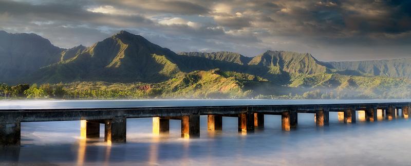 Hanalei Peir at Sunrise. Kauai, Hawaii