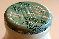 Organic milk bottle top.