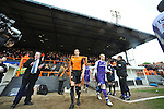 Barnet 1 Rochdale 0, 08/05/2010. Underhill Stadium, League 2. The final game of the season at Underhill. The Bees must beat Rochdale to guarantee their survival. Rochdale are celebrating promotion to League one. The two teams entering the field. Photo by Simon Gill.