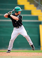 2 May 2008: Binghamton University Bearcats' infielder Ryan James, a Senior from Wading River, NY, in action against the University of Vermont Catamounts at Historic Centennial Field in Burlington, Vermont. The Catamounts defeated the Bearcats 6-2 in the first game of their weekend series...Mandatory Photo Credit: Ed Wolfstein Photo
