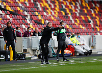 17th October 2020; Brentford Community Stadium, London, England; English Football League Championship Football, Brentford FC versus Coventry City; Coventry City manager Mark Robins giving instructions to this players from the touchline