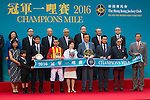 SHA TIN,HONG KONG-MAY 01: The connections of Maurice attend the winning ceremony after winning the Champions Mile at Sha Tin Racecourse on May 01,2016 in Sha Tin,New Territories,Hong Kong (Photo by Kaz Ishida/Eclipse Sportswire/Getty Images)