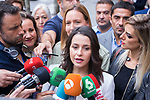 Ines Arrimadas attends the Olive growers demonstration march because of fair price of olive oil in Madrid. October 10, 2019.. (ALTERPHOTOS/ Francis Gonzalez)