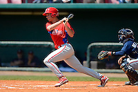 Philadelphia Phillies outfielder Cameron Perkins during a minor league Spring Training game against the Atlanta Braves at Al Lang Field on March 14, 2013 in St. Petersburg, Florida.  (Mike Janes/Four Seam Images)