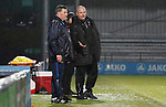 Barnet 2 Morecambe 0, 16/12/2017. The Hive, League Two. Mark McGhee Manager of Barnet and Jim Bentley Manager of Morecambe. Barnet v Morecambe Photo by Paul Thompson.