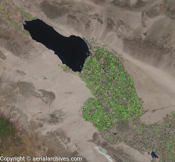 satellite image of Salton Sea, Imperial Valley, Calexico, Mexicali, , US Mexico border