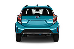 Straight rear view of a 2018 Toyota Prius c One 5 Door Hatchback stock images