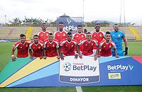 BOGOTÁ- COLOMBIA, 8-10-2020:Formación del Barranquilla. Tigres FC y Barranquilla en partido por la fecha 11 del Torneo BetPlay DIMAYOR I 2020 jugado en el estadio Metropoltano de Techo  de la ciudad de Bogotá. / Team of Barranquilla.Tiges FC and Barranquilla in match for the date 11 as part of BetPlay DIMAYOR Tournament I 2020 played at the  Metropolitano de Techo  stadium of Bogota city. Photos: VizzorImage / Daniel Garzón / Contribuidor