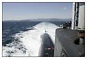 SNA Saphir,<br /> Sous-marin nucléaire d'attaque.<br /> Mer Méditerranée