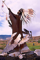 Indian Sculpture at Nk'Mip Cellars Winery, Osoyoos, South Okanagan Valley, BC, British Columbia, Canada