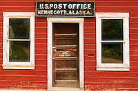 The Post Office at the historic Kennicott Mill built in 1907 by the Kennecott Copper Corporation near McCarthy, Wrangell-St. Elias National Park and Preserve, Alaska