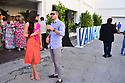 MIAMI, FL - APRIL 13: Athena Castro and Hector Nieto attend the Beyond Van Gogh exhibition at Ice Palace Film Studios on April 13, 2021 in Miami, Florida. Beyond Van Gogh is a rich and unique multimedia experience, crafted by audiovisuals designers using cutting-edge projection technology to create an engaging journey into the world of Van Gogh taking the viewer on a journey through over 300 iconic artworks. Van Gogh's masterpieces come alive, appear and disappear and flow across multi-surfaces. This exhibition is open to the public from (4/15/21-7/11/21)  ( Photo by Johnny Louis / jlnphotography.com )