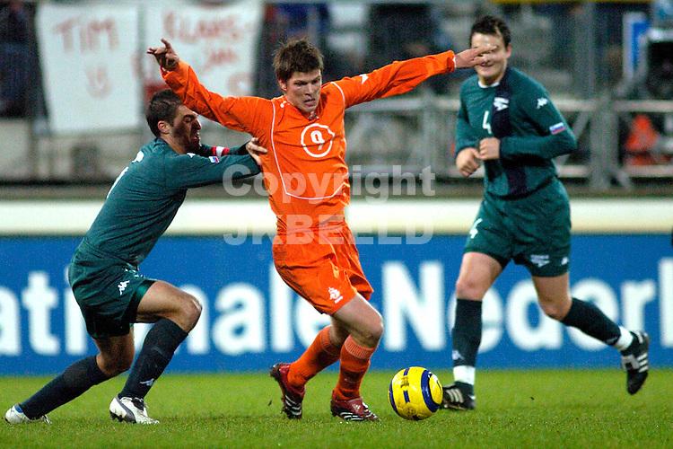 jong oranje - jong slovenie 16 11-2005 kwalificatie duel ek 2006 sezieon 2005-2006 huntelaar in duel