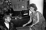 CLAUDE MONTANA E ADA URBANI<br /> FESTA ENRICO COVERI AL TOULA' <br /> MILANO 1989
