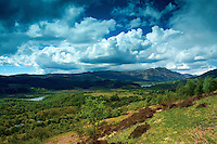 Loch Venachar and Ben Venue from The Great Trossachs Path, Glen Finglas, Loch Lomond and the Trossachs National Park, Stirlingshire