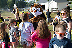 """September 15, 2017- Tuscola, IL- Northward 2nd graders interact with their mascot """"Tiger"""" during the 1st annual Tiger Trot. [Photo: Douglas Cottle]"""