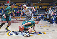 Hind Ben Abdelkader of California tries to grab the loose ball against Oregon at Haas Pavilion in Berkeley, California on January 5th, 2014. California defeated Oregon