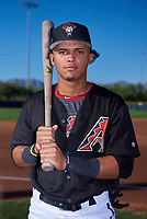AZL D-backs infielder Jose Curpa (3) poses for a photo before an Arizona League game against the AZL Angels on July 20, 2019 at Salt River Fields at Talking Stick in Scottsdale, Arizona. The AZL Angels defeated the AZL D-backs 11-4. (Zachary Lucy/Four Seam Images)
