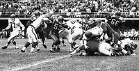 Earl Lunsford Bill McKenna Calgary Stampeders 1963. Photo Ted Grant