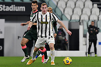 Dejan Kulusevski of Juventus FC in action during the Serie A football match between Juventus FC and FC Crotone at Allianz stadium in Torino (Italy), February 22th, 2021. Photo Giuliano Marchisciano / Insidefoto