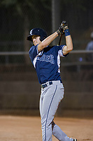 AZL Padres third baseman Jonny Homza (17) on deck against the AZL White Sox on July 31, 2017 at Camelback Ranch in Glendale, Arizona. AZL White Sox defeated the AZL Padres 2-1. (Zachary Lucy/Four Seam Images)