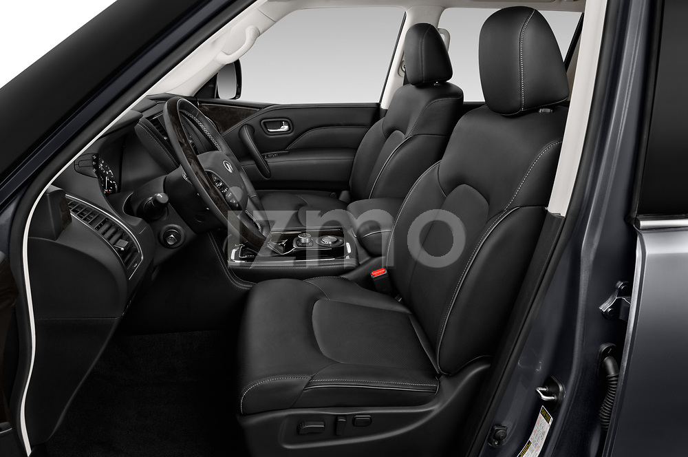 Front seat view of a 2020 Infiniti QX80 Luxe 5 Door SUV front seat car photos