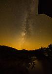 Milky Way over the Roseman Covered Bridge