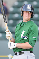 Infielder Matt Duffy (13) of the Lexington Legends, a Houston Astros affiliate, prior to a game against the Greenville Drive on May 2, 2012, at Fluor Field at the West End in Greenville, South Carolina. Lexington won, 4-2. (Tom Priddy/Four Seam Images)