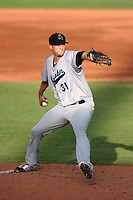 Jupiter Hammerheads pitcher Scott Lyman (31) delivers a pitch during a game against the Bradenton Marauders on June 25, 2014 at McKechnie Field in Bradenton, Florida.  Bradenton defeated Jupiter 11-0.  (Mike Janes/Four Seam Images)
