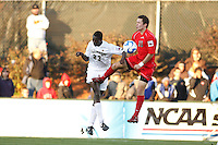 Wake Forest Demon Deacons defender Ike Opara (23) and Ohio State Buckeyes forward Andrew Magill (10). The Wake Forest Demon Deacons defeated the Ohio State Buckeyes 2-1 in the finals of the NCAA College Cup at SAS Stadium in Cary, NC on December 16, 2007.