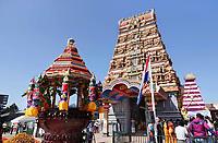 Nederland Den Helder -  2019. Jaarlijkse tempelfeest bij de Hindoe tempel in Den Helder. Vereniging Sri Varatharaja Selvavinayagar voltooide in 2003 het gebouw dat wordt gebruikt voor het bevorderen van kunst en cultuur. Een ander deel wordt gebruikt voor het praktiseren van religieuze waarden. Het hoogtepunt van de feestperiode is het voorttrekken van de wagen ( chithira theer of ratham ). Dit is een kleurrijke optocht, waarbij de godheid Ganesh in de wagen wordt voortgetrokken door gelovigen.    Foto mag niet in negatieve / schadelijke context gepubliceerd worden.  Foto Berlinda van Dam / Hollandse Hoogte
