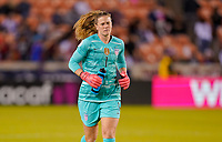 HOUSTON, TX - FEBRUARY 03: Alyssa Naeher #1 of the United States during a game between Costa Rica and USWNT at BBVA Stadium on February 03, 2020 in Houston, Texas.