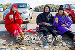 Enjoying a cuppa after a swim in Banna on Friday, l to r: Sally Ryle, Audrey O'Carroll and Veronica O'Brien