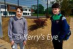 Just finished their Leaving Cert Irish exam in Presentation Milltown on Monday. l to r: Vilhelmas Kairys and Anthony Barrett (Miltown)