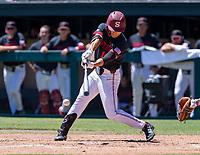 STANFORD, CA - JUNE 4: Eddie Park during a game between North Dakota State and Stanford Baseball at Sunken Diamond on June 4, 2021 in Stanford, California.