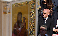 Italian Interior Minister Marco Minniti attends a canonization ceremony celebrated by the Pope in St. Peter's Square at the Vatican, October 15, 2017. The pontiff canonized Italian Capuchin priest  Angelo of Acri, Spanish priest Faustino Miguez, the Child Martyrs of Tlaxcala, (Mexico) Cristobal, Antonio and Juan, and the Martyrs of Natal, Jesuit priest Andre de Soveral, diocesan priest Ambrosio Francisco Ferro, layman Mateus Moreira and 27 others, killed in 1645 in an anti-Catholic persecution carried out by Dutch Calvinists in Natal, Brazil. <br /> UPDATE IMAGES PRESS/Riccardo De Luca<br /> <br /> STRICTLY ONLY FOR EDITORIAL USE