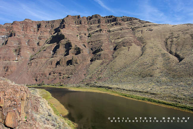 The rugged landscape of the John Day River.